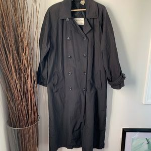 Christian Dior Coat Trench Nylon Size 14 W/ Flaws